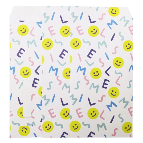 【長札 金封 L 3枚セット】 SMILE ALPHABET ポチ袋 オクタニコーポレーション おとしだま袋 封筒 おもしろ雑貨グッズ通販【メール便可】【あす楽】マシュマロポップ