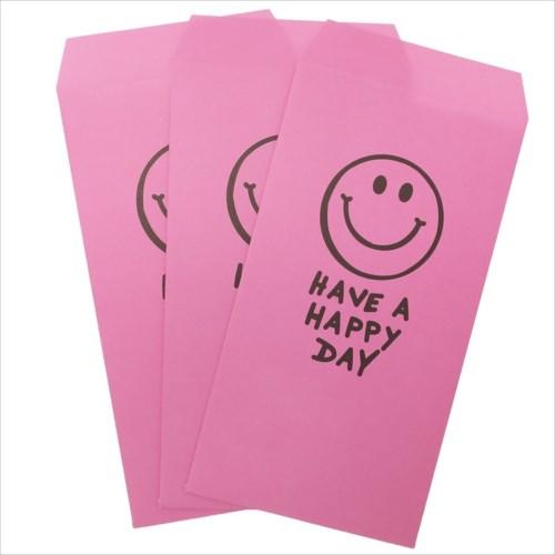 【長札 金封 L 3枚セット】 HAVE A HAPPY DAY PINK ポチ袋 オクタニコーポレーション おとしだま袋 封筒 おもしろ雑貨グッズ通販【メール便可】【あす楽】マシュマロポップ