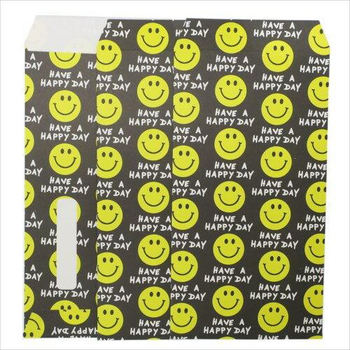 【長札 金封 L 3枚セット】 SMILE BLACK ポチ袋 オクタニコーポレーション おとしだま袋 封筒 おもしろ雑貨グッズ通販【メール便可】【あす楽】マシュマロポップ