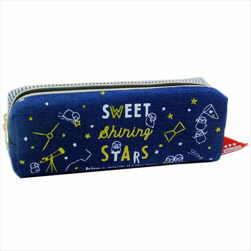 【ツインファスナーペンケース】 2018SS SWEET SHINING STAR ペンポーチ クラックス 新学期準備雑貨 筆箱 かわいいグッズ通販【あす楽】マシュマロポップ