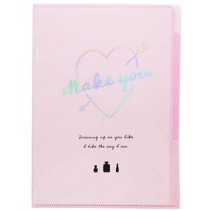5インデックス A4 クリアファイル ピンク MAKE YOU ポケット ファイル カミオジャパン 新入学 新学期 キッズ 文具 筆記用具 可愛いステーショナリー マシュマロポップ