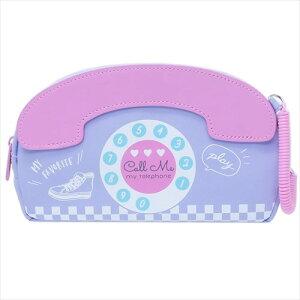 でんわパロディペンケース TELIPHONE 80's HOLIC ペンポーチ クラックス 小学生 中学生 筆箱 おもしろ文具 マシュマロポップ