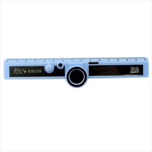 カメラ型15cm 定規 ライトブルー 80's HOLIC ものさし クラックス 小学生 中学生 エイティーズ おもしろ文具 メール便可 マシュマロポップ
