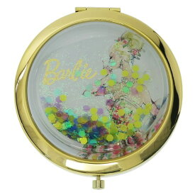 コンパクトミラー ハート & ラメBL バービー 手鏡 Barbie SHO-BI ギフト 雑貨 おしゃれ ティーンズ ジュニア メール便可 マシュマロポップ