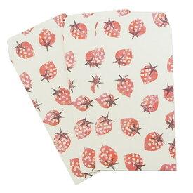 ポチ袋(小)3枚セット ストロベリー ぽち袋 Tomoko Hayashi クローズピン 金封 ミニ封筒 ガーリーイラストグッズ メール便可 マシュマロポップ
