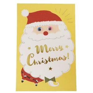 ハンドメイド クリスマスカード 338 ポストカード サンタクロース アクティブコーポレーション かわいい ギフト 雑貨 Xmasグッズ メール便可 マシュマロポップ