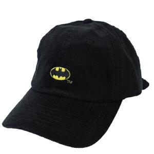 帽子 BATMAN バットマン ロゴ コーデュロイ 刺繍 ベースボールキャップ DCコミック スモールプラネット 男女兼用 野球帽 ティーンズ ジュニア マシュマロポップ