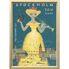 【ストックホルム700周年 1953年】 ZCS-52666 Scandinavian Art アートフレーム 美工社 52.5×72.5×3cm 額付き 北欧インテリア通販【取寄品】マシュマロポップ【TIK】