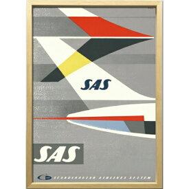 【SAS 1960年ごろ】 ZCS-52671 Scandinavian Art アートフレーム 美工社 52.5×72.5×3cm 額付き 北欧インテリア通販【取寄品】マシュマロポップ【TIK】