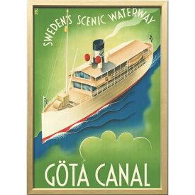 【ヨータ運河 1936年】 ZCS-52672 Scandinavian Art アートフレーム 美工社 52.5×72.5×3cm 額付き 北欧インテリア通販【取寄品】マシュマロポップ【TIK】