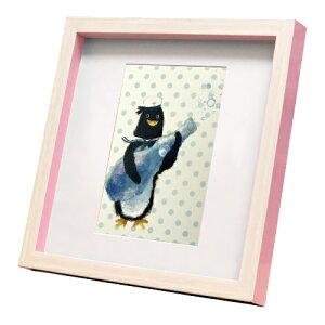 nao Square Frame ペンギン 夏のシュワシュワ 菜生 アートフレーム 美工社 ZNO-61836 ギフト 額付き インテリア 取寄品 マシュマロポップ