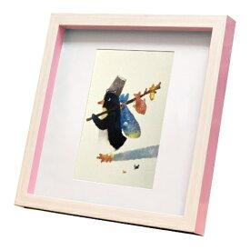 nao Square Frame ペンギン バケツに入りきらない 菜生 アートフレーム 美工社 ZNO-61837 22.3×22.3×2.5cm ギフト 額付き インテリア【取寄品】マシュマロポップ