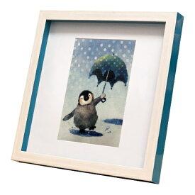 nao Square Frame ペンギン ぴっちょんぱっちゃん 菜生 アートフレーム 美工社 ZNO-61844 22.3×22.3×2.5cm ギフト 額付き インテリア【取寄品】マシュマロポップ