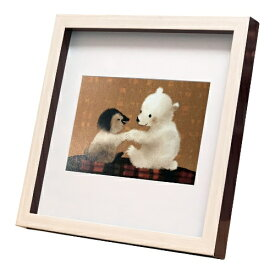nao Square Frame ペンギン あそぼ〜 菜生 アートフレーム 美工社 ZNO-61850 22.3×22.3×2.5cm ギフト 額付き インテリア【取寄品】マシュマロポップ