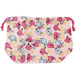 マチ付き きんちゃく袋 ピンク ムーミン ランチ巾着 北欧 スモールプラネット お弁当袋 ランチ 雑貨 ティーンズ ジュニア メール便可 マシュマロポップ