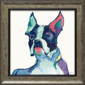 ユリシーズ ウォーターカラー AT-06011 エイヴリー ティルモン 動物画 38x38cm ギフト 絵画 犬 額付き ポスターインテリア 取寄品 マシュマロポップ