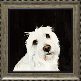 ルビー PD-06001 パスティ ダックロー 動物画 38x38cm ギフト 絵画 犬 額付き ポスターインテリア 取寄品 マシュマロポップ