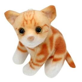 マスコット トラ猫 ミニ ぬいぐるみ ボールチェーン リアルネコ ねこ ユニック 約13cm かわいい プレゼントグッズ マシュマロポップ