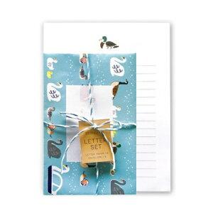 手紙セット mizudori レターセット BROOCHIR グリーンフラッシュ 便箋&封筒 贈り物 おしゃれグッズ メール便可 マシュマロポップ