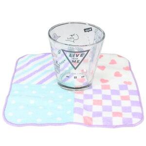 食器ギフトセット 牛乳パック型 グラスコップ & ミニタオル セット LIKEオルチャン 2020SS カミオジャパン プレゼント 女子向け マシュマロポップ