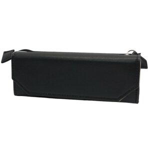 メガネも入る ペンポーチ 眼鏡ケース & ペンケース meganemo 合皮ブラック サンスター文具 機能性筆箱 プレゼント マシュマロポップ