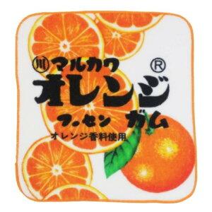 やわらか ハンカチタオル ミニタオル マルカワフーセンガム オレンジ おやつパッケージ ティーズファクトリー プチギフト メール便可 マシュマロポップ