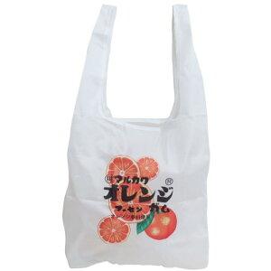エコバッグ おやつパッケージ ショッピングバッグ マルカワフーセンガム オレンジ ティーズファクトリー お買い物かばん メール便可 マシュマロポップ