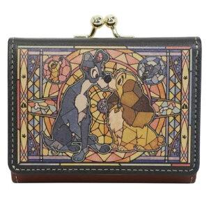 三つ折り コンパクト 財布 わんわん物語 ミニウォレット ステンドグラスコレクション ディズニー ディバージョン プレゼント 女性向け レディース かわいい マシュマロポップ