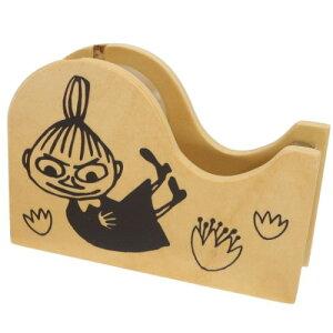 木製 テープカッター ムーミン セロハンテープ リトルミイ 北欧 サンスター文具 事務用品 文房具 かわいい マシュマロポップ