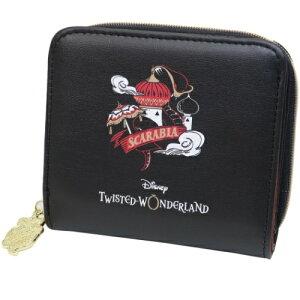 二つ折り財布 ツイステッドワンダーランド スカラビア コンパクト ウォレット ディズニー クラックス プレゼント ギフト雑貨 かわいい 女の子向け マシュマロポップ