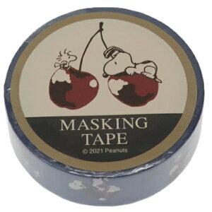 マスキングテープ スヌーピー 15mm マステ チェリー ピーナッツ カミオジャパン かわいい プチギフト メール便可 マシュマロポップ