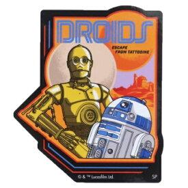 ステッカー スターウォーズ ダイカット ビニール ステッカー R2-D2&C-3PO STAR WARS スモールプラネット デコシール 防水 メール便可 マシュマロポップ