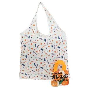 折りたたみ ショッピングバッグ エコバッグ オレンジフーセンガム おやつマーケット ジェイズプランニング ギフト 雑貨 お買い物かばん メール便可 マシュマロポップ
