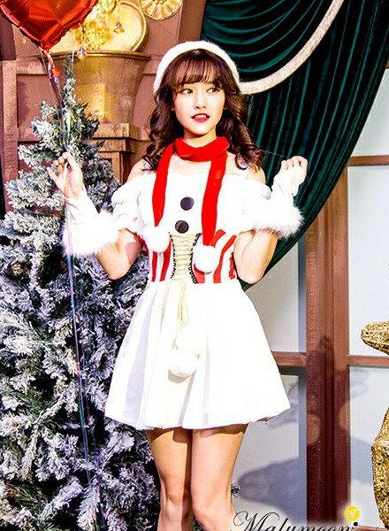 サンタ クリスマス コスプレ 雪だるま衣装 S M L サンタコス サンタ 衣装 サンタ衣装 サンタクロース オリジナル [ Rudegirl ] クリスマス コスチューム ワンピース 帽子 5点 セット 雪だるま スノーマン 大きいサイズ 【TNK450051】