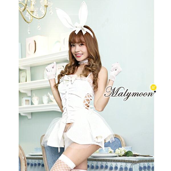 バニーガール ハロウィン コスプレ【Rudegirl】 コスチューム 衣装 セクシー 白 ホワイト【ml7099】