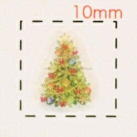 Christmasツリー【クリスマス ネイル&デコシール】(4)/1シート9枚入