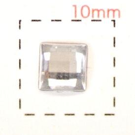 正方形(スクエア)アクリルラインストーン5mm《ネイルアート用品》クリア/20個入