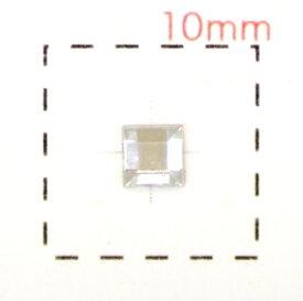 正方形(スクエア)アクリルラインストーン3mm《ネイルアート用品》クリア 激安 60個入