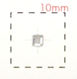 正方形(スクエア)アクリルラインストーン2mm《ネイルアート用品》クリア 激安 約120個入