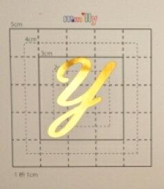 【スワロフスキー37個付イニシャルシール】(スマホ・スマフォ用デコ電ケース・カバー)大文字GD(大)Y