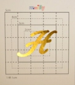 【スワロフスキー37個付イニシャルシール】(スマホ・スマフォ用デコ電ケース・カバー)大文字GD(大)H