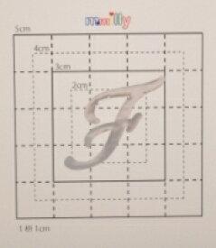 【スワロフスキー37個付イニシャルシール】(スマフォケース&カバー デコ電用)大文字SV(大)F