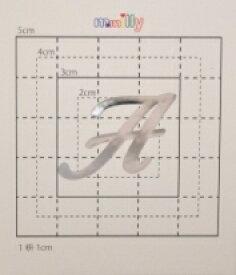 【スワロフスキー37個付イニシャルシール】(スマフォケース&カバー デコ電用)大文字SV(大)A