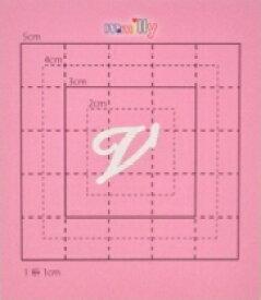 【スワロフスキー27個付イニシャルシール】(オリジナルスマートフォン ケース・カバー)大文字WH(小)V