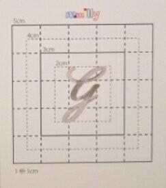 【スワロフスキー27個付イニシャルシール】(スマートフォン ケース・カバー)大文字SV(小)G