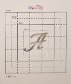 【スワロフスキー27個付イニシャルシール】(スマートフォン オリジナルケース・カバー)大文字SV(小)A