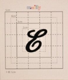 【スワロフスキー37個付イニシャルシール】(オリジナルケース&カバー)大文字BK(大)E