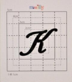 【スワロフスキー37個付イニシャルシール】(オリジナルケース&カバー)大文字BK(大)K