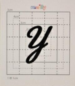 【スワロフスキー37個付イニシャルシール】(オリジナルケース&カバー)大文字BK(大)Y
