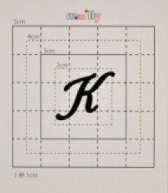 【スワロフスキー27個付ネームシール】(オリジナルプリントケース&カバー)大文字BK(小)K